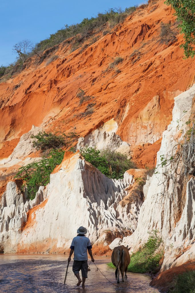 Vietnam, Mui Ne, Red Canyon and The Fairy Spring (Suoi Tien) : Stock Photo