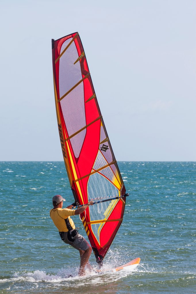 Stock Photo: 442-39085 Vietnam, Mui Ne, Mui Ne Beach, Windsurfer