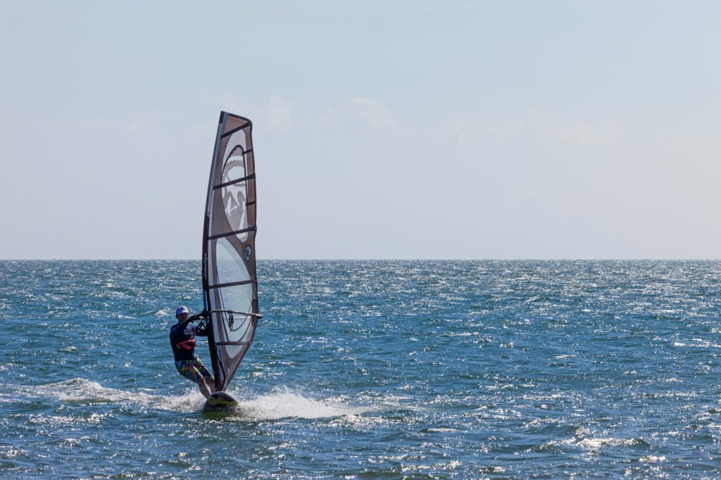 Stock Photo: 442-39086 Vietnam, Mui Ne, Mui Ne Beach, Windsurfer