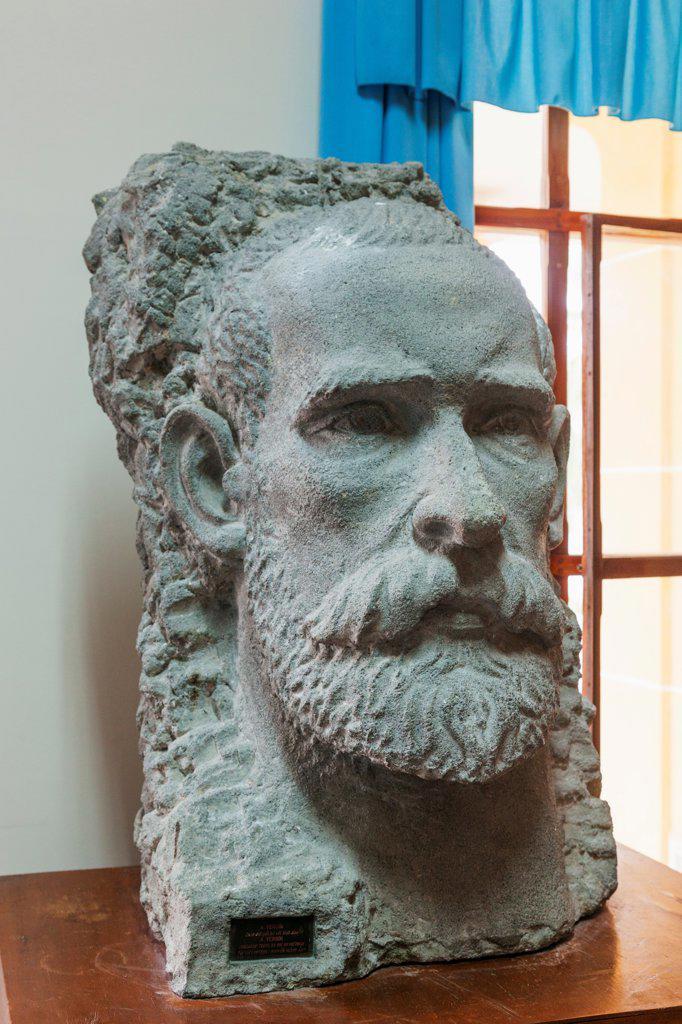 Vietnam, Nha Trang, Pasteur Institute, Alexandre Yersin Museum, Bust of Alexandre Yersin : Stock Photo