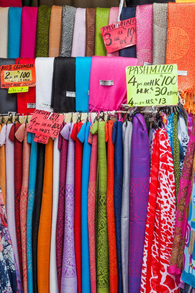 China, Hong Kong, Stanley Market, Merchandise : Stock Photo