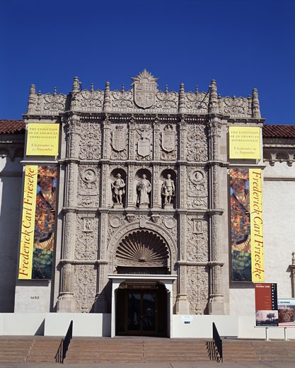 Facade of a museum, San Diego Museum of Art, Balboa Park, San Diego, California, USA : Stock Photo
