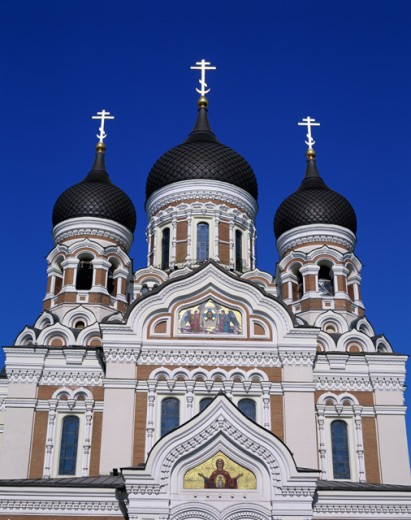 Stock Photo: 442-4456 Low angle view of a cathedral, Alexander Nevsky Cathedral, Tallinn, Estonia