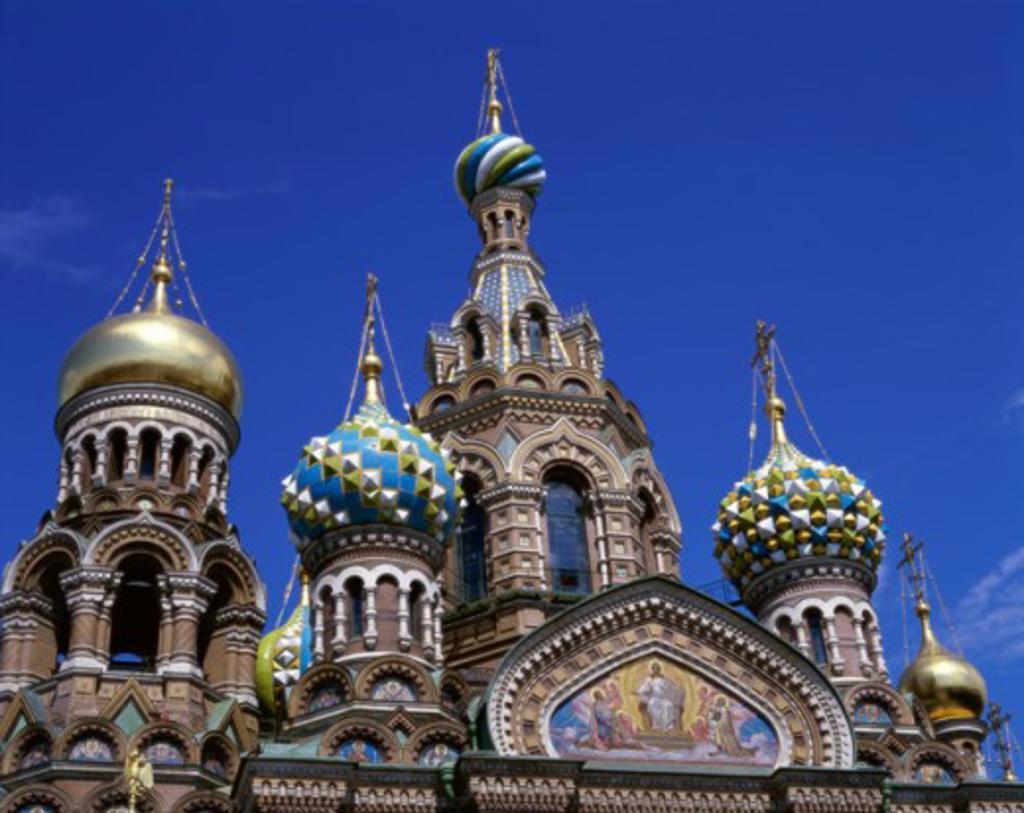 Stock Photo: 442-4461 Church of the Resurrection of Jesus Christ, St. Petersburg, Russia