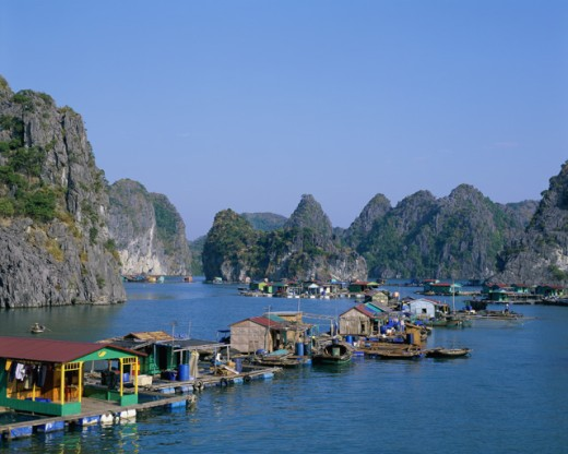 Stock Photo: 442-5336 Boats at Ha Long Bay, Vietnam