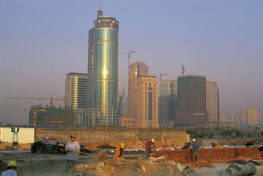 Building under construction, Shenzhen, China : Stock Photo