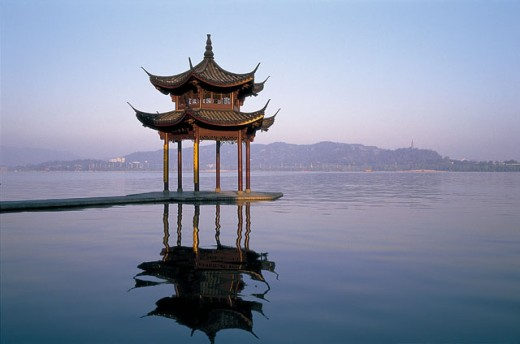 Pagoda in West Lake, Hangzhou, China : Stock Photo