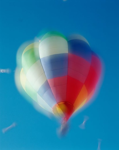 Low angle view of a hot air balloon in the sky, Albuquerque, New Mexico, USA : Stock Photo