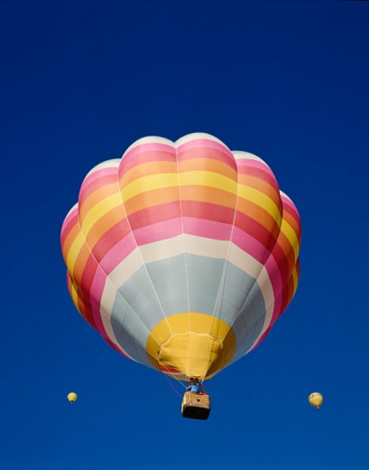 Stock Photo: 442-5739 Low angle view of hot air balloons in the sky, Albuquerque, New Mexico, USA