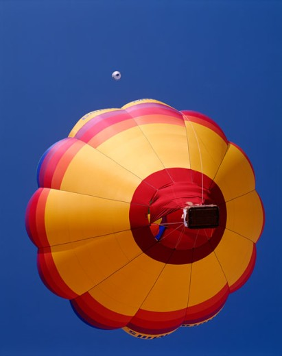 Stock Photo: 442-5756 Low angle view of a hot air balloon in the sky, Albuquerque, New Mexico, USA