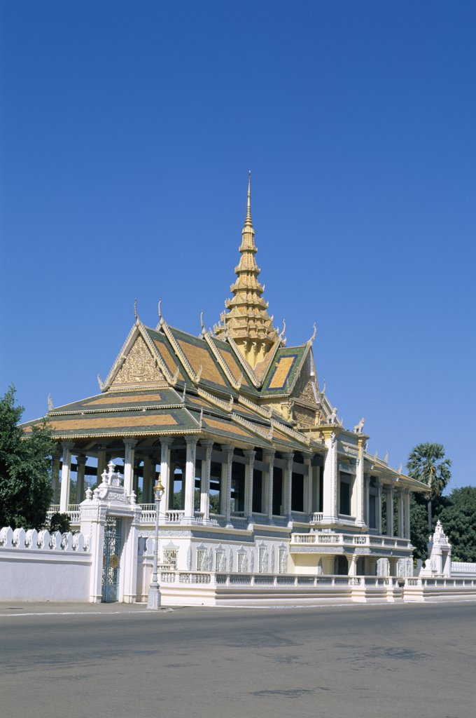 Stock Photo: 442-6375 Facade of a pavilion, Chan Chaya Pavilion, Royal Palace, Phnom Penh, Cambodia