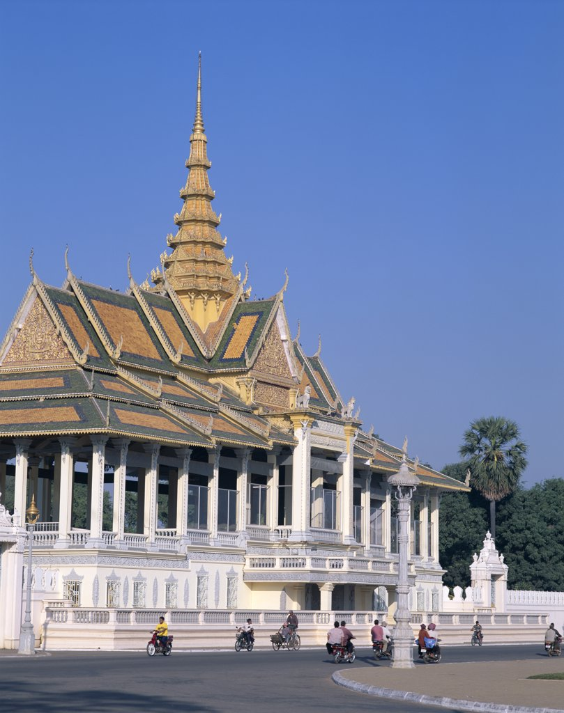 Stock Photo: 442-6376 Facade of a pavilion, Chan Chaya Pavilion, Royal Palace, Phnom Penh, Cambodia