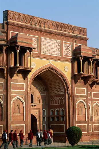 Stock Photo: 442-6439 Facade of the Agra Fort, Agra, Uttar Pradesh, India