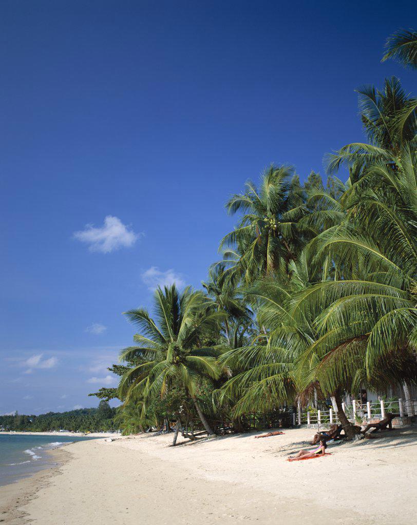 Stock Photo: 442-7224 People on the beach, Chaweng Beach, Ko Samui, Thailand
