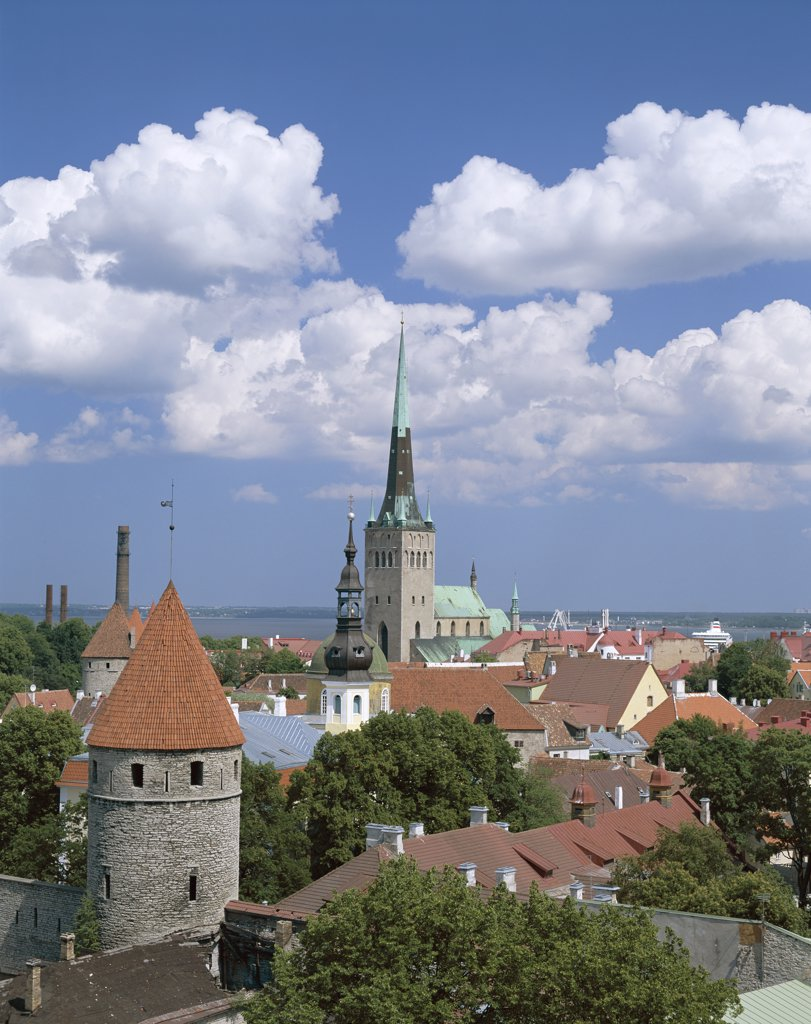 Old Town Skyline, Tallinn, Estonia  : Stock Photo
