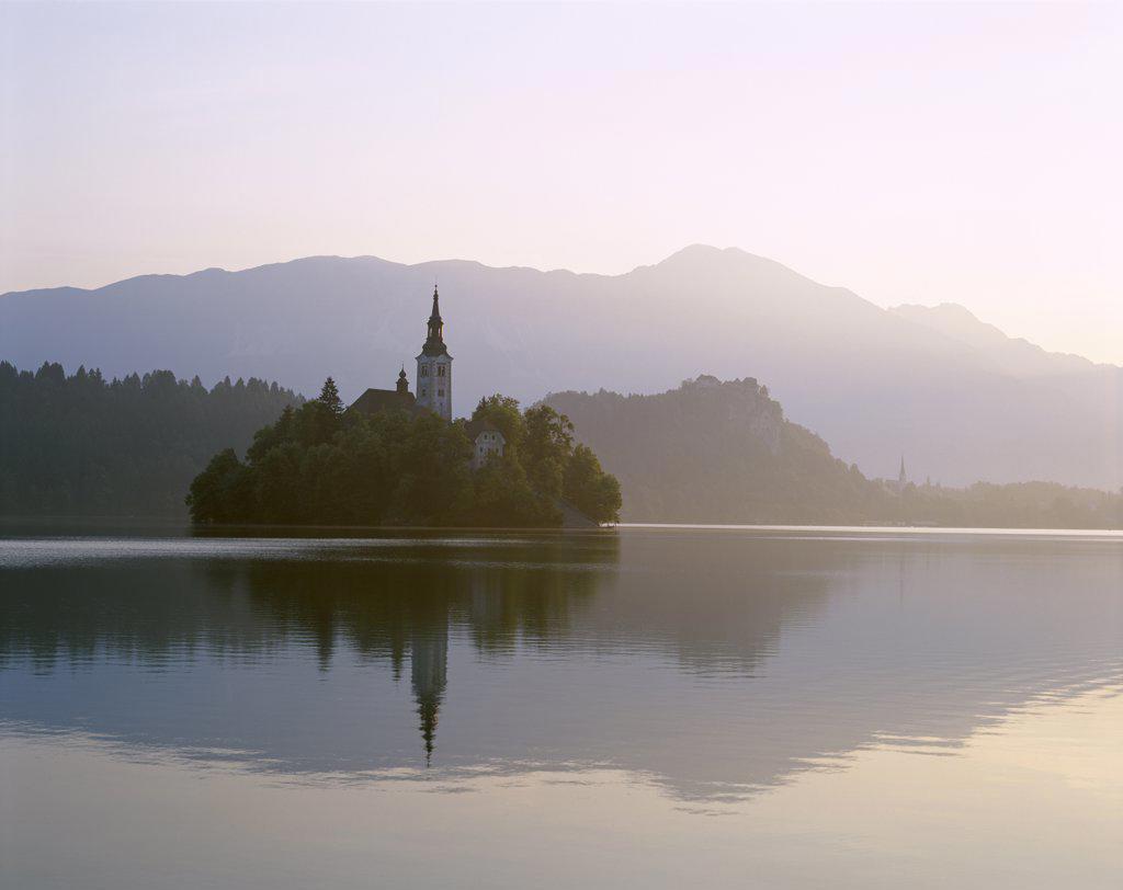 Stock Photo: 442-8050 Lake Bled, Bled, Slovenia