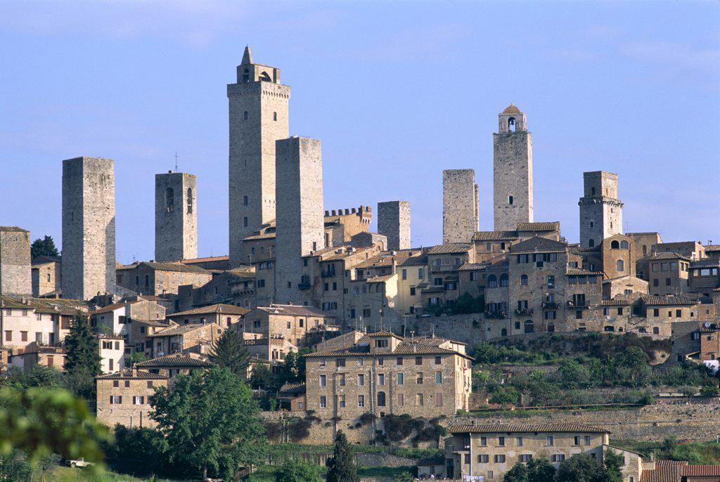 Stock Photo: 442-8432 Medieval Town Skyline, San Gimignano, Tuscany, Italy