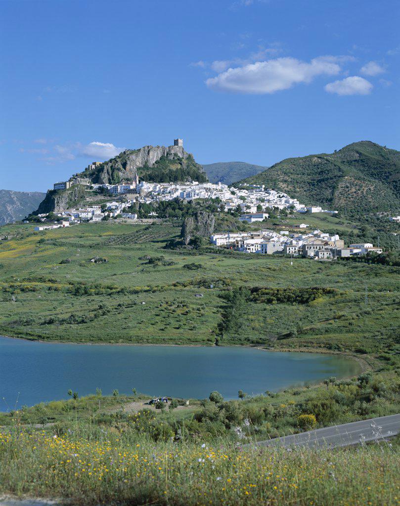 White Villages, Zahara de la Sierra, Andalusia, Spain : Stock Photo