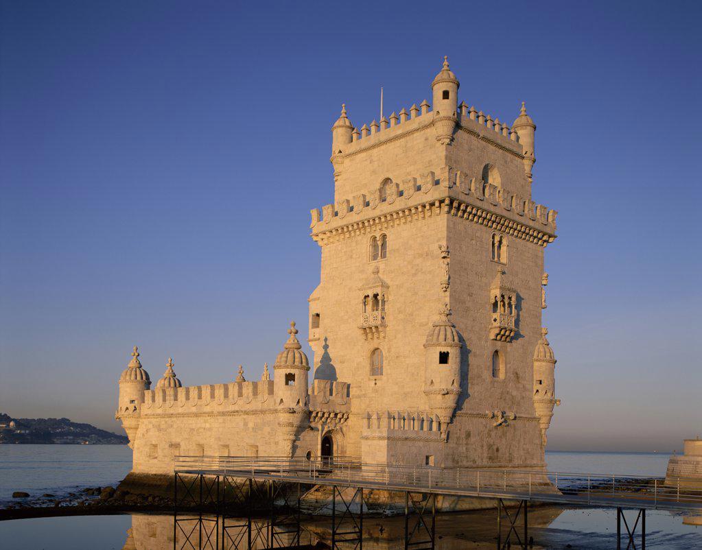 Stock Photo: 442-8647 Belem Tower, Lisbon, Portugal