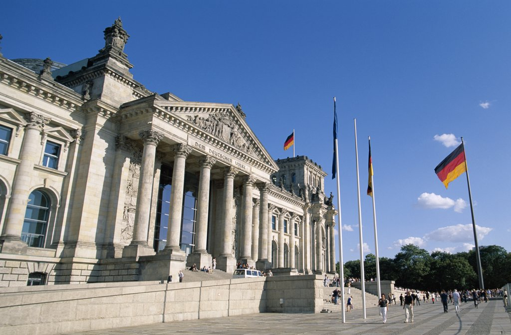 Stock Photo: 442-8731 Reichstag, Parliament Building, Berlin, Germany