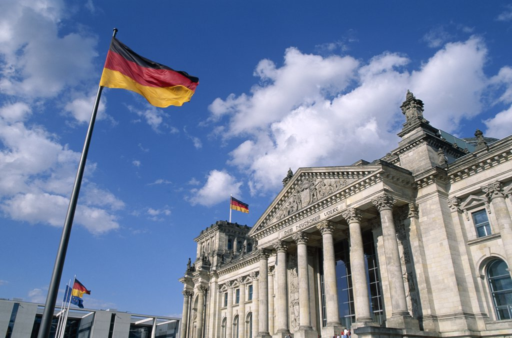 Reichstag, Parliament Building, Berlin, Germany : Stock Photo