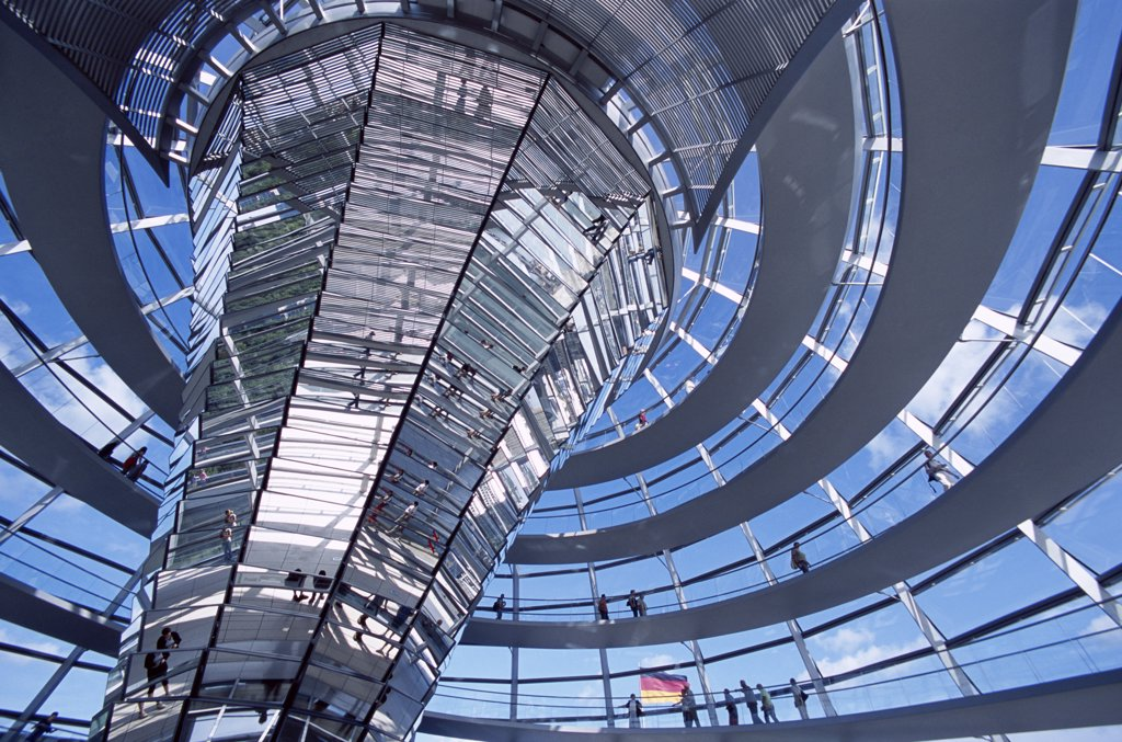 Stock Photo: 442-8735 Dome, Reichstag, Parliament Building, Berlin, Germany