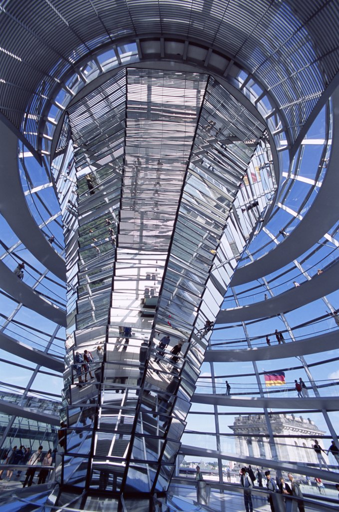 Dome, Reichstag, Parliament Building, Berlin, Germany : Stock Photo