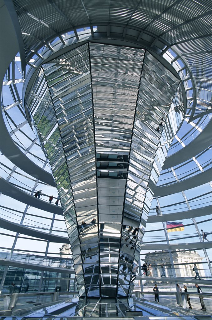 Stock Photo: 442-8742 Dome, Reichstag, Parliament Building, Berlin, Germany