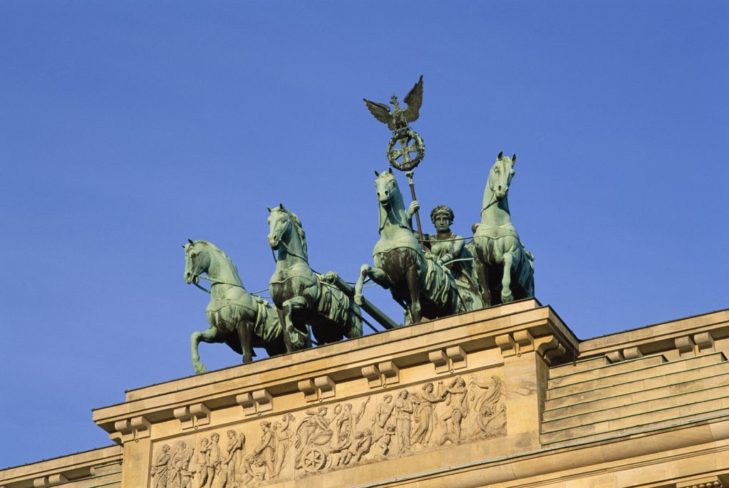 Quadriga, Brandenburg Gate, Berlin, Germany : Stock Photo