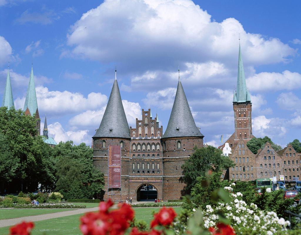Holstentor, Lubeck, Schleswig-Holstein, Germany : Stock Photo