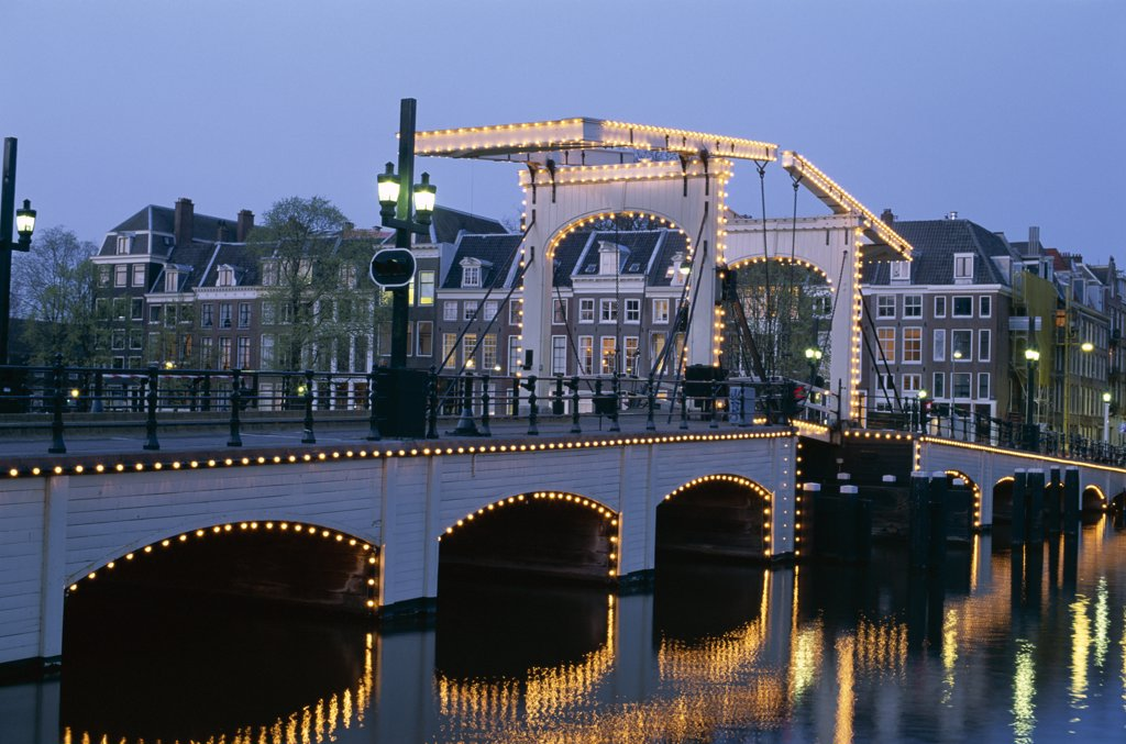 Magere Brug, Amsterdam, Netherlands : Stock Photo