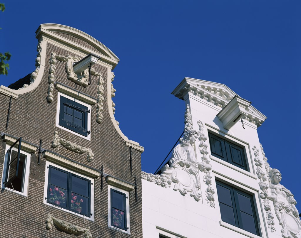 Building Facades, Herengracht, Amsterdam, Netherlands : Stock Photo
