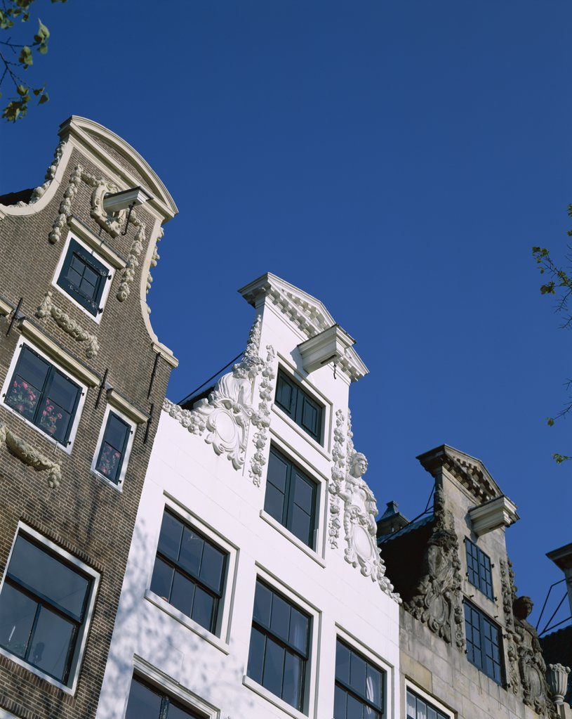Stock Photo: 442-8881 Building Facades, Herengracht, Amsterdam, Netherlands