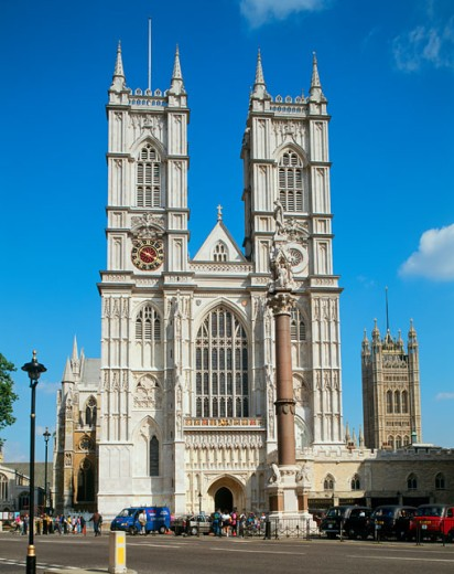 Stock Photo: 442-974A Facade of a cathedral, Westminster Abbey, London, England
