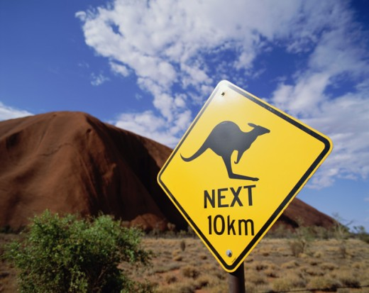 Kangaroo sign, Australia : Stock Photo