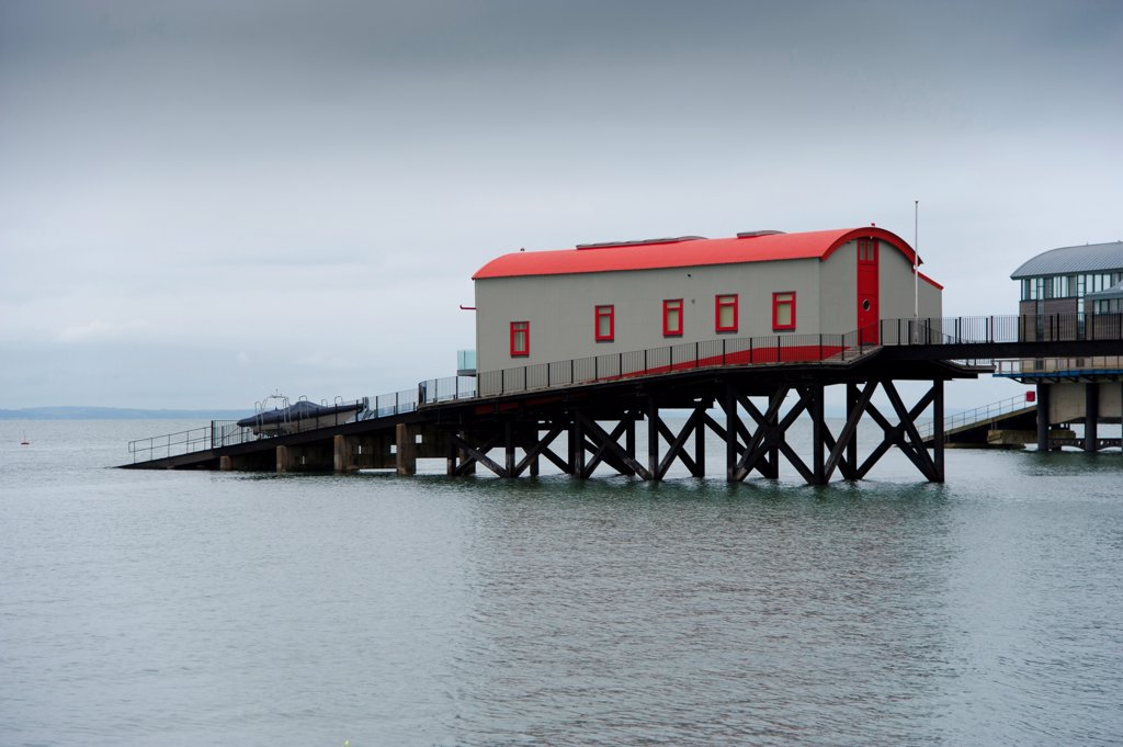 Stock Photo: 4421-35199 Old lifeboat station converted into house, Tenby, Pembrokeshire, Wales, August