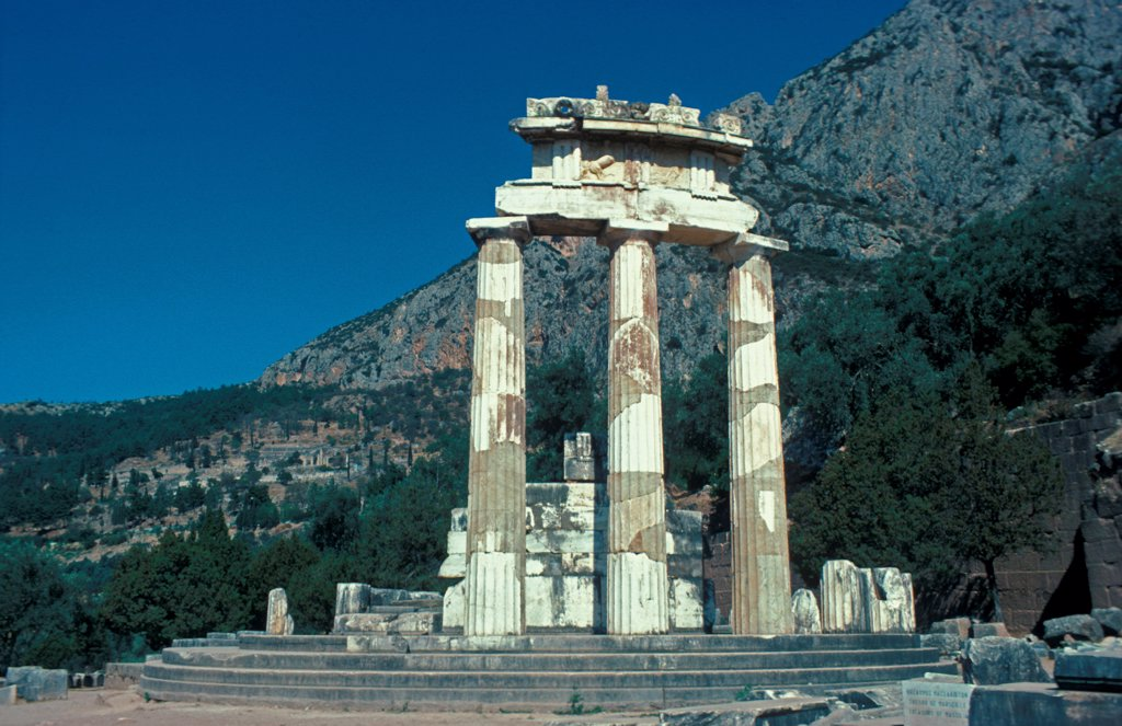 Stock Photo: 4421-35346 Europe - Greece The Tholos, Delphi, Greece
