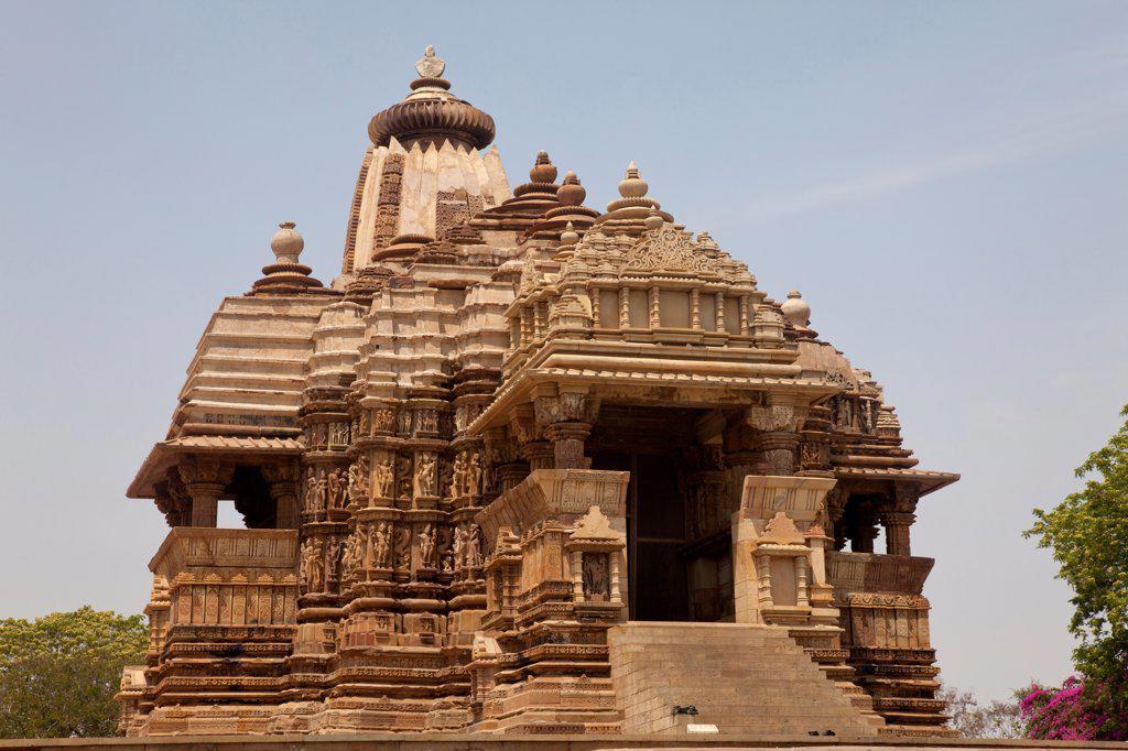 Stock Photo: 4421-35634 Chandella dynasty temple, Devi Jagadambika, Khajuraho, Madhya Pradesh, India