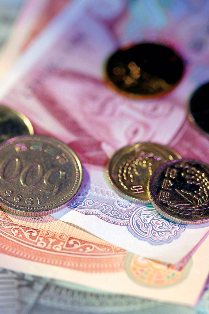 korean money : Stock Photo