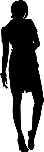 Beautiful woman silhouette : Stock Photo