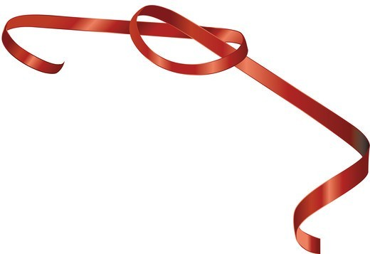 Stock Photo: 4422R-6980 Red glossy ribbon