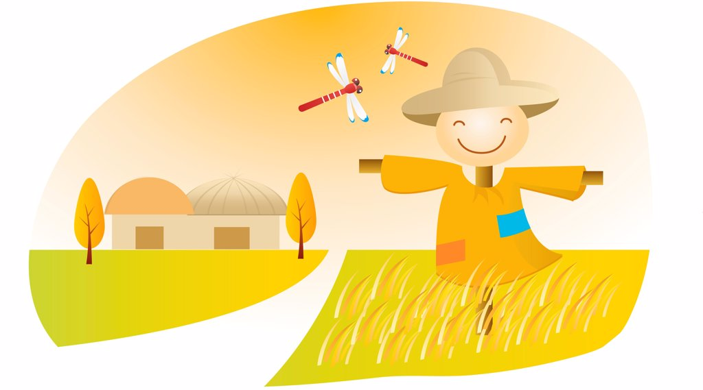 standing scarecrow : Stock Photo