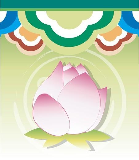 Stock Photo: 4422R-7301 Lotus flower design