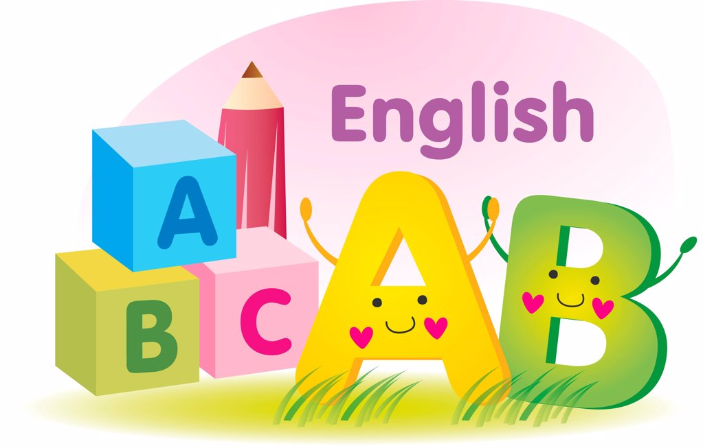 toy cubes with letter a b c : Stock Photo