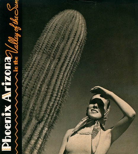 Stock Photo: 4423-1085 Brochure from 1942 titled 'Phoenix, Arizona, In the Valley of the Sun'.