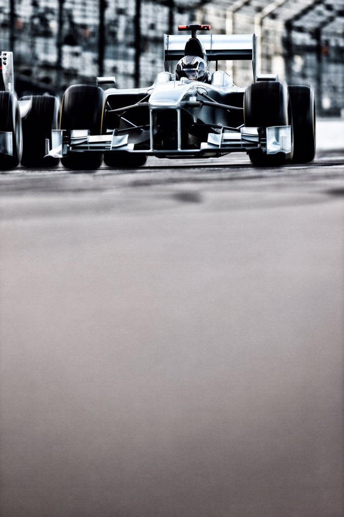 Stock Photo: 4428R-4279 Race car driving on track,Corby, UK