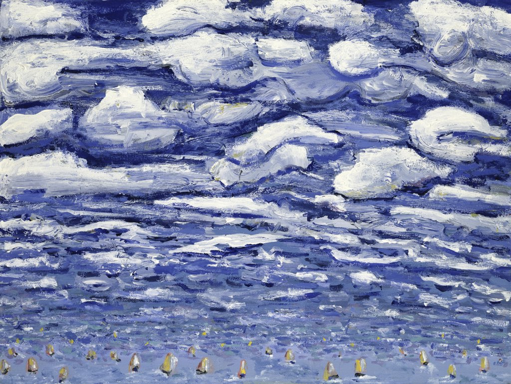 Clouds and Sailboats Peters Sickles (20th C./American) : Stock Photo