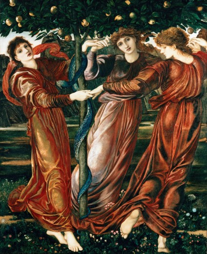 "Stock Photo: 4430-1371 fine arts, Burne-Jones, Edward, """"Garden of the Hesperides"""", 1869/1873,"