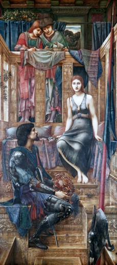 "Stock Photo: 4430-2084 fine arts, Burne-Jones, Sir Edward, (1833 - 1898), painting, """"King Kophetua and the beggar girl"""", 1884, oil on canvas, 290 cm x 136 cm, Tate Gallery, London,"