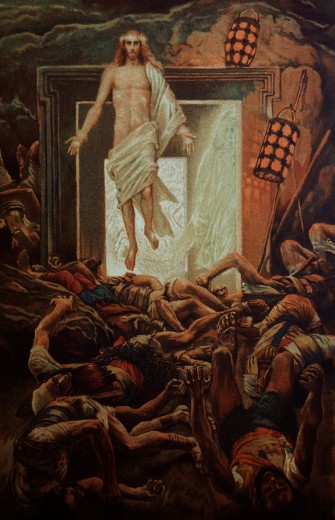 Stock Photo: 4430-3835 fine arts, religious art, persons, Jesus Christ, resurrection, painting by James Tissot (1836 - 1902),